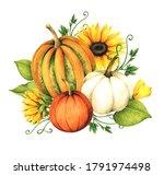 watercolor floral design card...   Shutterstock . vector #1791974498