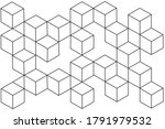 modern abstract boxes on white... | Shutterstock . vector #1791979532
