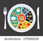healthy food over gray... | Shutterstock .eps vector #179200256