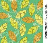 retro illustration of leaves on ...   Shutterstock .eps vector #179200436