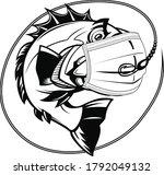 fish mask vector files download   Shutterstock .eps vector #1792049132