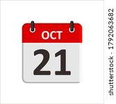 October 21 Calendar Icon....