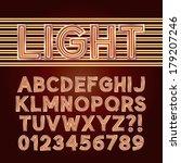red parallel neon light... | Shutterstock .eps vector #179207246