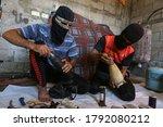 Masked Palestinians Prepare...