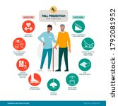 fall prevention tips... | Shutterstock .eps vector #1792081952