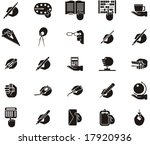 busy hands icons   stationery ...   Shutterstock .eps vector #17920936