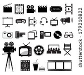 movie and cinema icons set ... | Shutterstock .eps vector #179210822