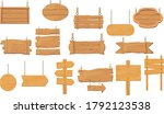 wooden sign board set color...   Shutterstock .eps vector #1792123538
