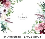 dusty pink  cream rose  pale...   Shutterstock .eps vector #1792148975