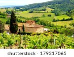 view through vineyards with... | Shutterstock . vector #179217065