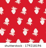 strawberry seamless pattern | Shutterstock .eps vector #179218196