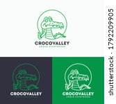 Crocodile Logo   Vector...