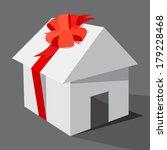 the house as gift  illustration ... | Shutterstock .eps vector #179228468