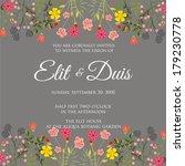 wedding invitation | Shutterstock .eps vector #179230778