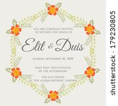 wedding invitation | Shutterstock .eps vector #179230805