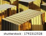 3d Rendering Heap Of Gold Shin...
