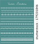lace vector borders and edges...   Shutterstock .eps vector #179231846