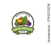 organic fresh product. vector... | Shutterstock .eps vector #1792373278