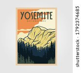 Yosemite National Park Vintage...