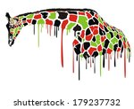 painted abstract illustration... | Shutterstock .eps vector #179237732