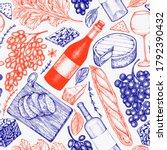french food illustration... | Shutterstock .eps vector #1792390432