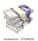 English Money Isolated On Whit...