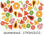 stylish seamless pattern with... | Shutterstock .eps vector #1792413112