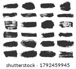 big collection of black paint ... | Shutterstock .eps vector #1792459945