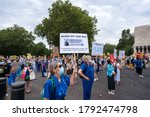 Nhs Protest By Nurses And...