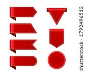 set of red ribbons with pattern   Shutterstock .eps vector #1792496512