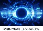 abstract futuristic digital... | Shutterstock .eps vector #1792500142