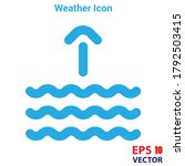 High Tide Icon Vector. Simple...