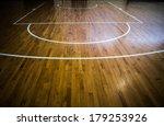 Wooden Floor Basketball Court