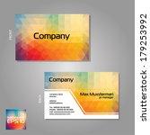 vector branded business cards... | Shutterstock .eps vector #179253992