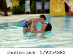 mom and son having fun in the... | Shutterstock . vector #179254382