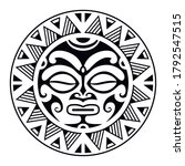 round tattoo ornament with sun...   Shutterstock .eps vector #1792547515