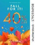 autumn sale blue background ... | Shutterstock .eps vector #1792556938