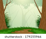 beautiful tropical evergreen... | Shutterstock .eps vector #179255966