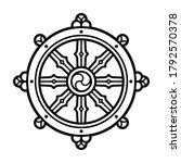 dharmachakra  dharma wheel ...   Shutterstock . vector #1792570378