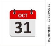 october 31 calendar icon....   Shutterstock .eps vector #1792590382
