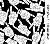Rock Hands Seamless Pattern ...