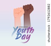 international youth day on... | Shutterstock .eps vector #1792612882