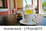 Jar Of Cane Sugar With Tea...