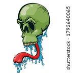 skull with slobbering long... | Shutterstock . vector #1792640065