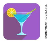 blue lagoon cocktail icon....