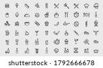 vector 60 food and restaurant... | Shutterstock .eps vector #1792666678