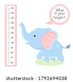 height chart with cute baby...   Shutterstock .eps vector #1792694038