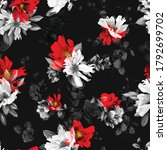 seamless floral background...   Shutterstock .eps vector #1792699702