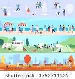 people outdoor activities....   Shutterstock .eps vector #1792711525
