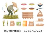 rice bags. agricultural... | Shutterstock .eps vector #1792717225